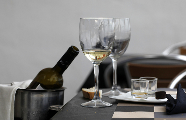 servicio del vino