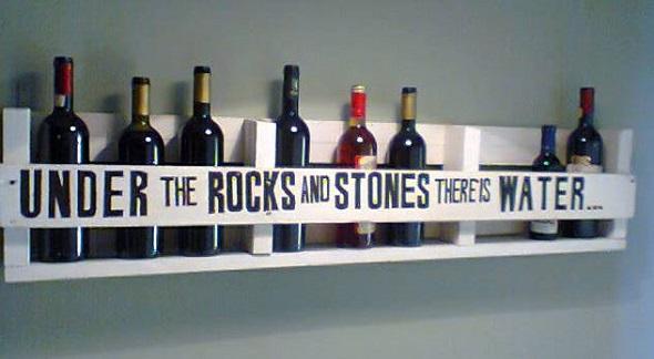 15 ideas creativas diy para el vino hechas con palets - Estantes para vinos ...