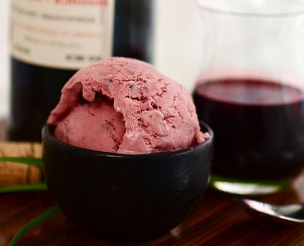 shiraz wine ice cream