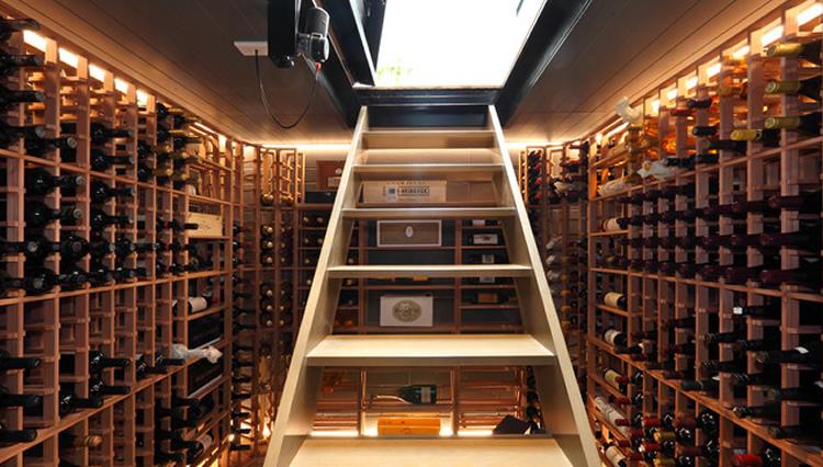 14 bodegas espectaculares en casas vinopack - Bodegas en sotanos de casas ...